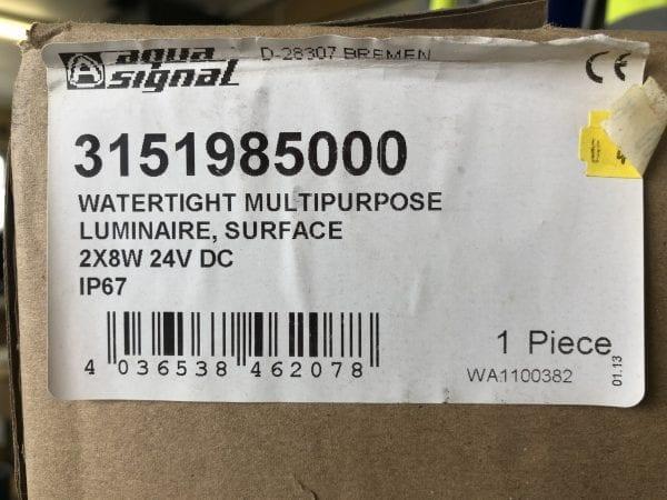 AQUASIGNAL LUMINAIRE 24V 2X8W Marine Light