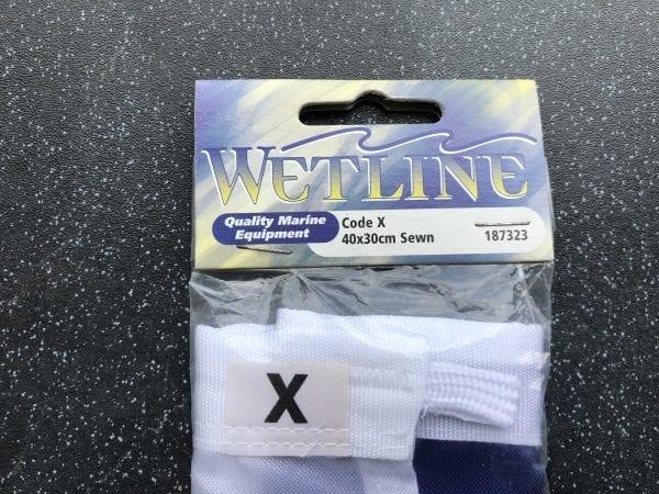 Wetline Code X 40x30cm Sewn Flag