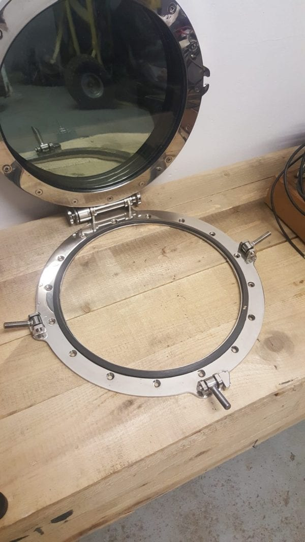 Polished Stainless Steel Superyacht Porthole 650mm