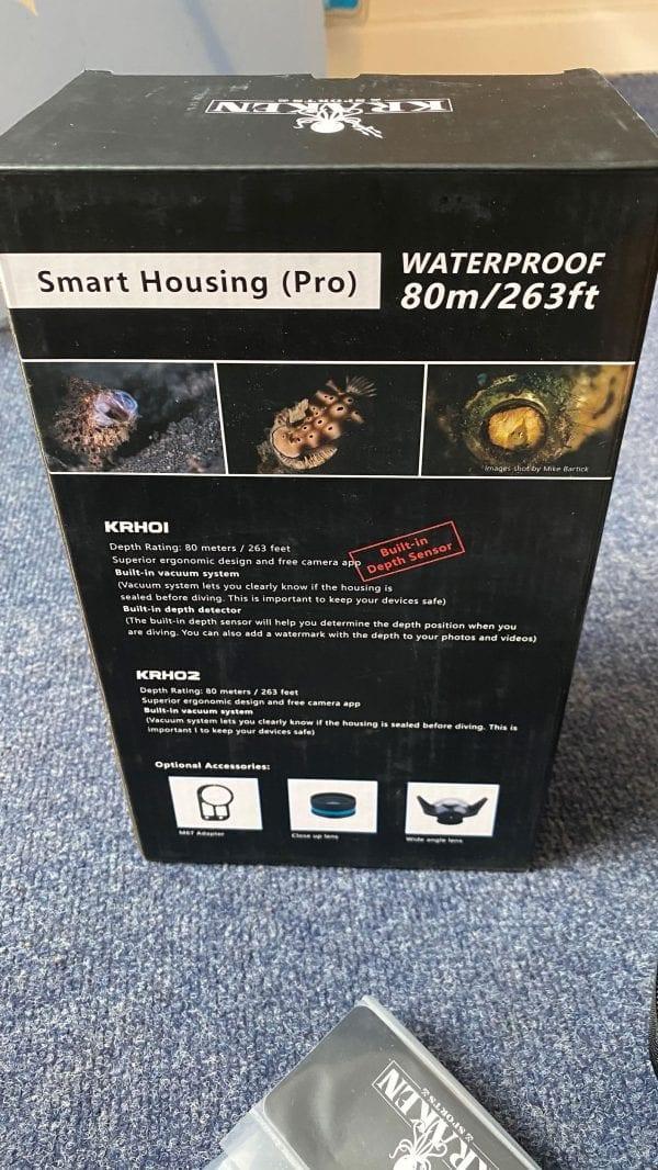 kraken sports smart housing pro krh01 back of box