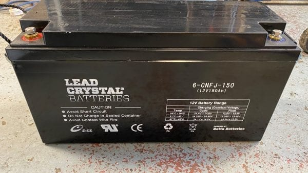 lead crystal battery 12v 150ah 6-cnft-150 label