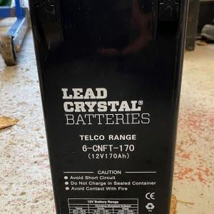 lead crystal battery 12v 170ah 6-cnft-170 label
