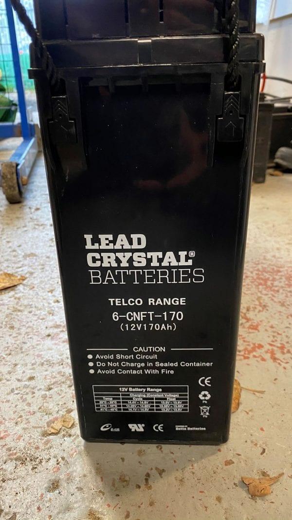 lead crystal battery 12v 170ah 6-cnft-170 label