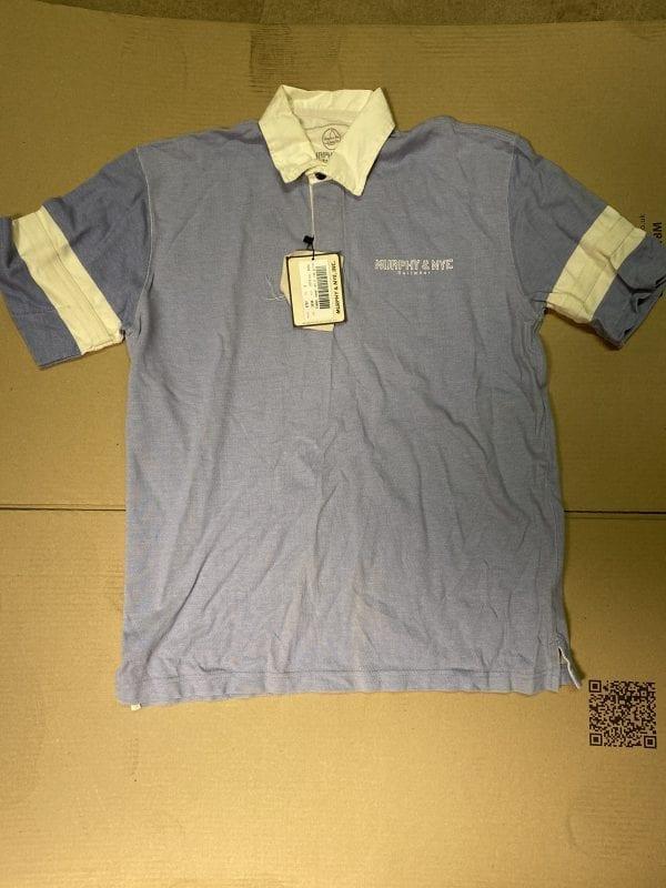 Murphy & Nye, Inc. Funnel and Opener Blue Shirt
