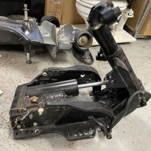 mercury marine 2002 outboard power tilt and trim 30hp side