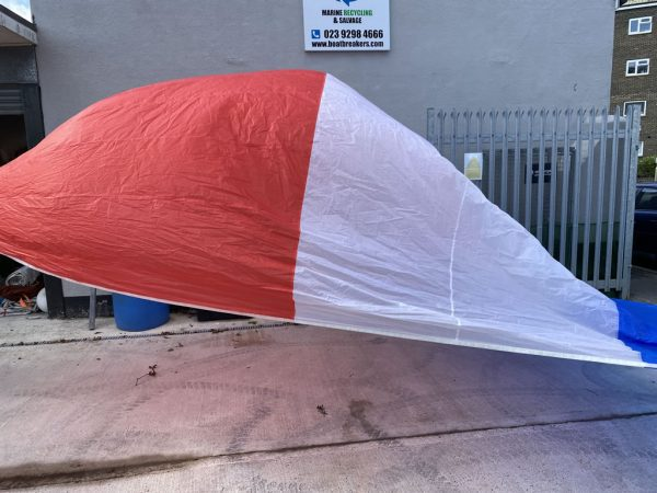 spinnaker sail - red, white and blue luff and leech 620cm